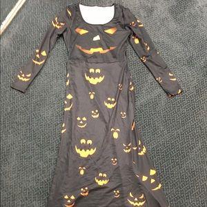Halloween pumpkin jack o lantern Long Dress Spooky